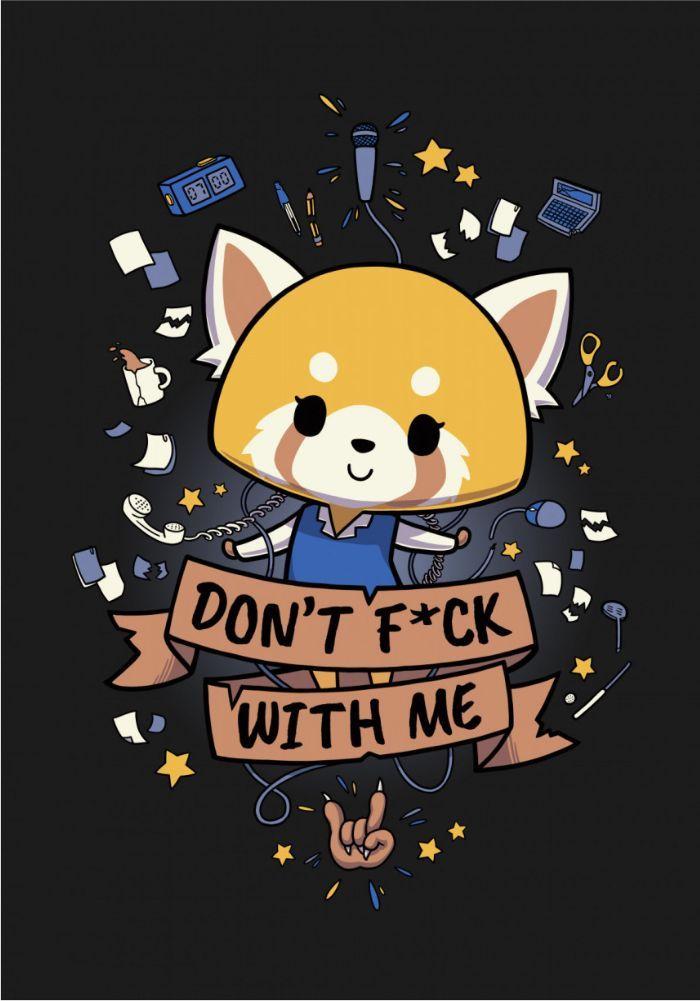 Aggretsuko Cute Red Panda Poster art print by Paloma Latorre 700x1001