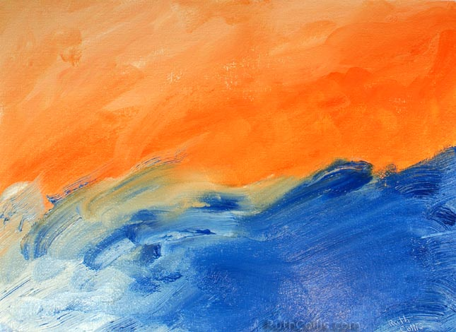 Orange Blue Abstract   RuthColliscom 645x470