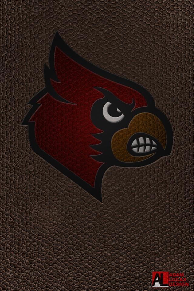 UofL Football Logo Wallpaper Desktop and iPhone 640x960