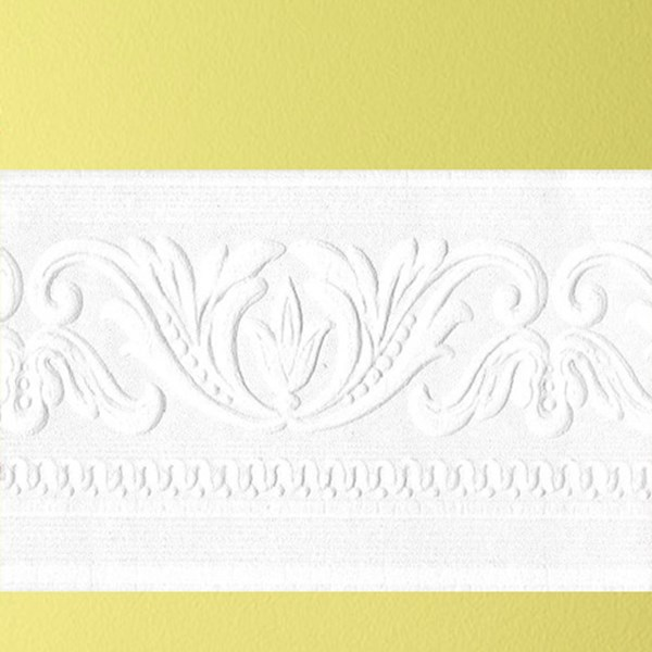 Scroll Paintable Border   Paintable Wallpaper by Graham Brown 600x600