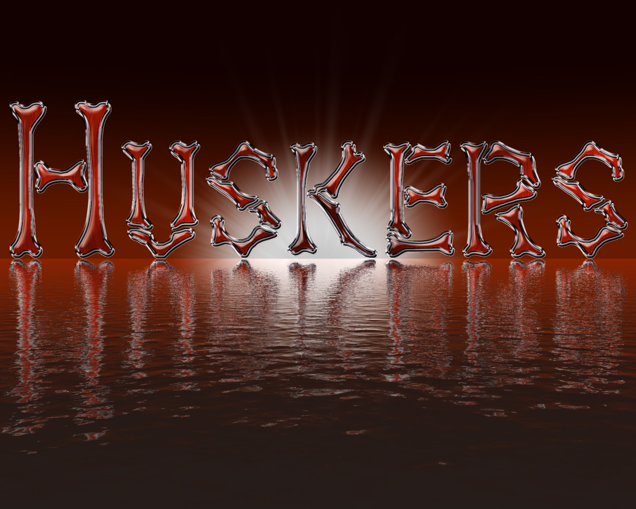 Huskers Bone Glass Red 1280 x 1024 1280x1024