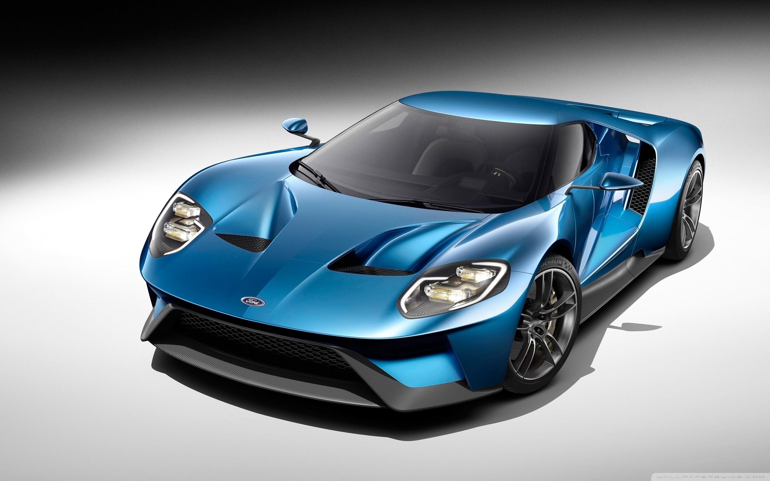 2017 Ford GT Blue Car 4K HD Desktop Wallpaper for 4K Ultra HD 2560x1600