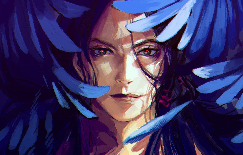 Wallpaper face smile wings anime feathers art guy JoJo no 1332x850
