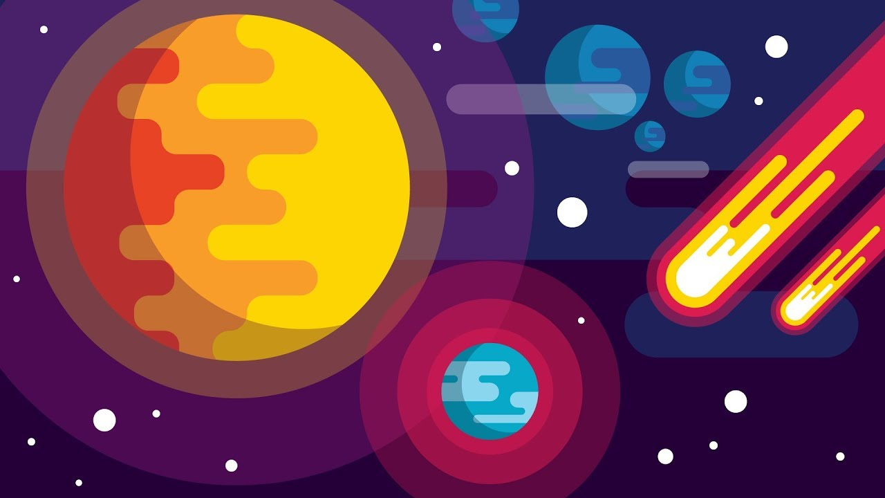 Free Download How To Draw A Space Background Flat Design