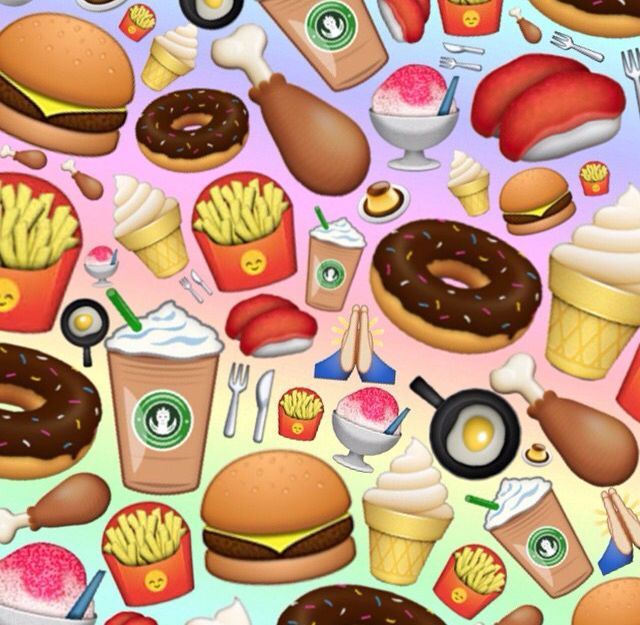 49 food emoji wallpaper on wallpapersafari - Kawaii food wallpaper ...