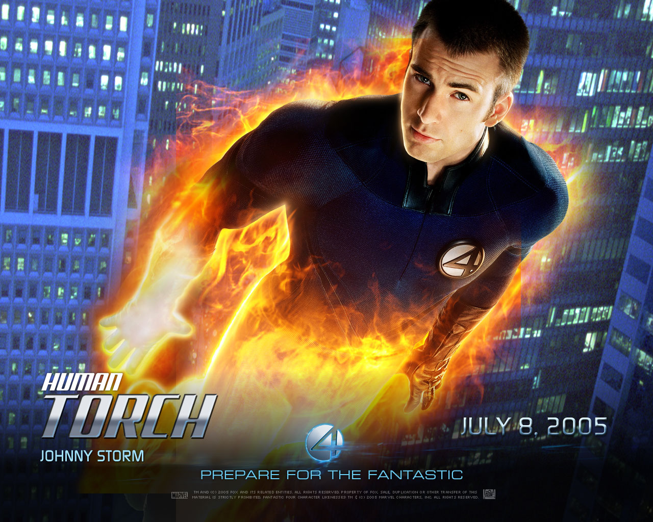 Human Torch wallpaperjpg 1280x1024