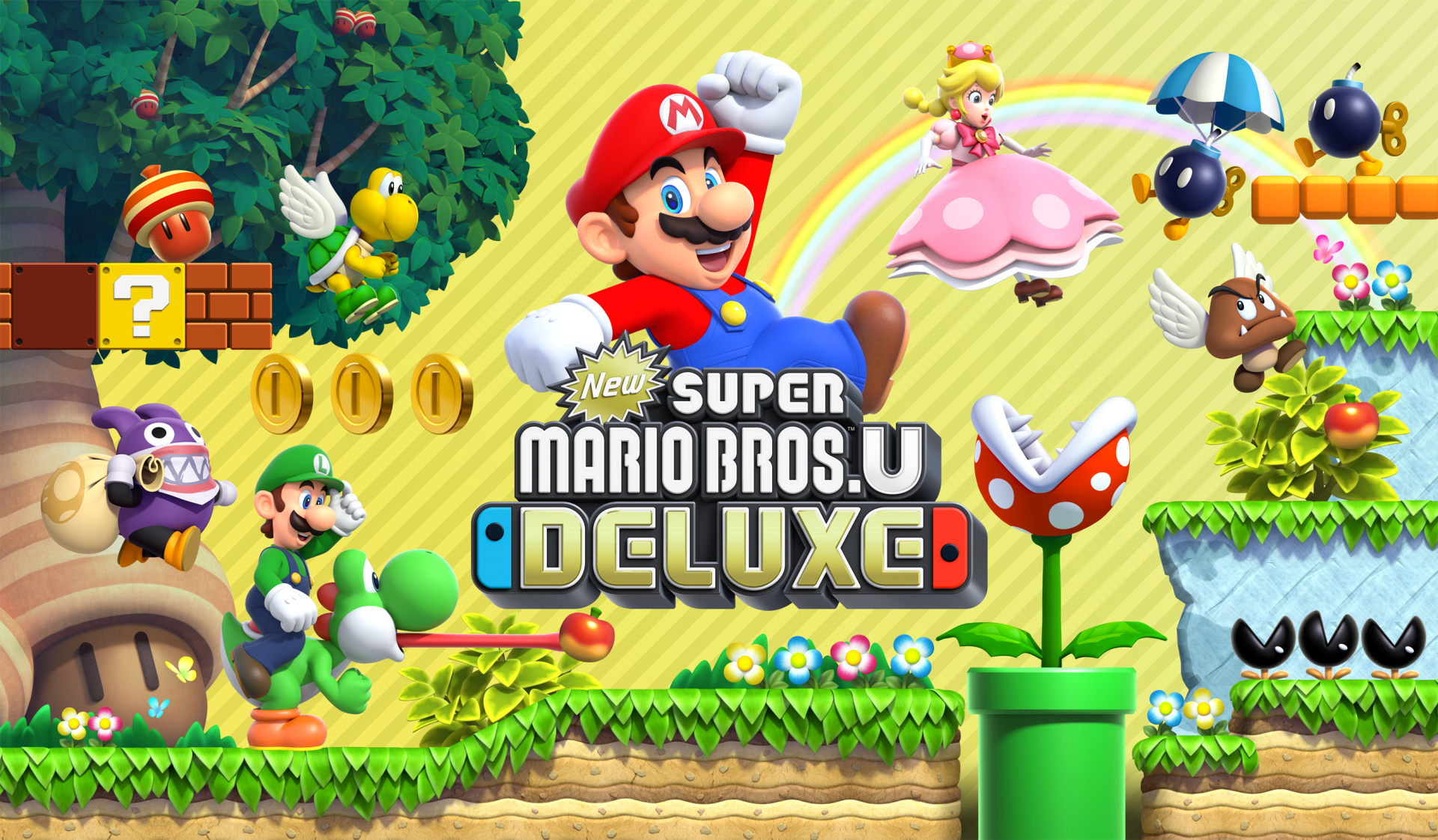 3 New Super Mario Bros U Deluxe HD Wallpapers Background Images 1920x1122