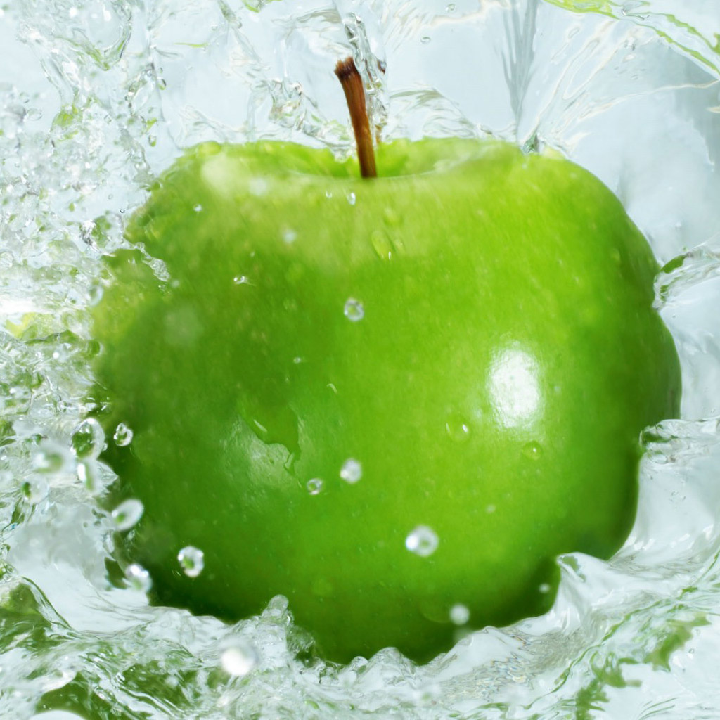 Dynamic green apple ipad wallpaper iPad Wallpapers iPad Backgrounds 1024x1024