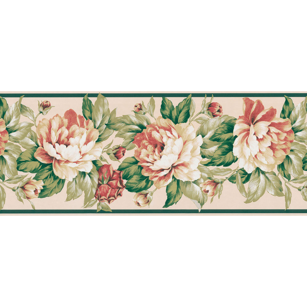 Free Download Cream Botanical Wallpaper Border Ebay 1000x1000