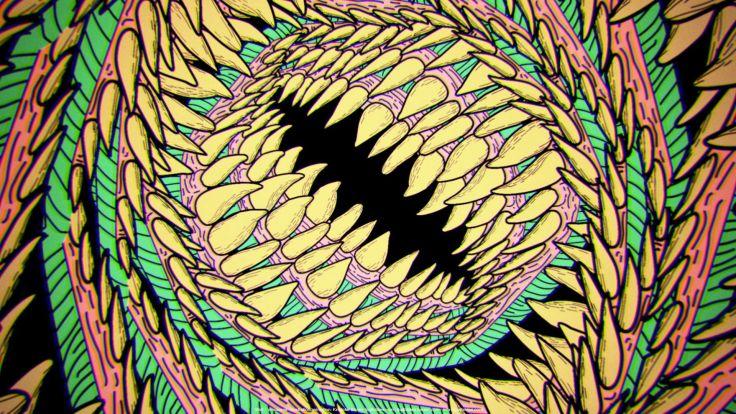 Abstract dinosaurs 16 bit wallpaper 1920x1080 258252 WallpaperUP 736x414