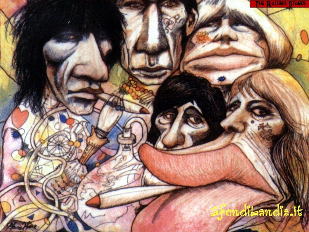 Sfondo The Rolling Stones Art gratis a 1024x768 per il desktop del pc 1024x768