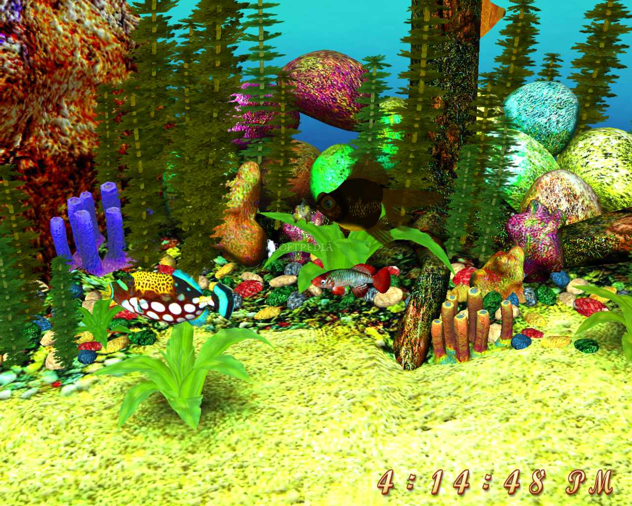 3d Gun Image 3d Aquarium Screensaver 1280x1024