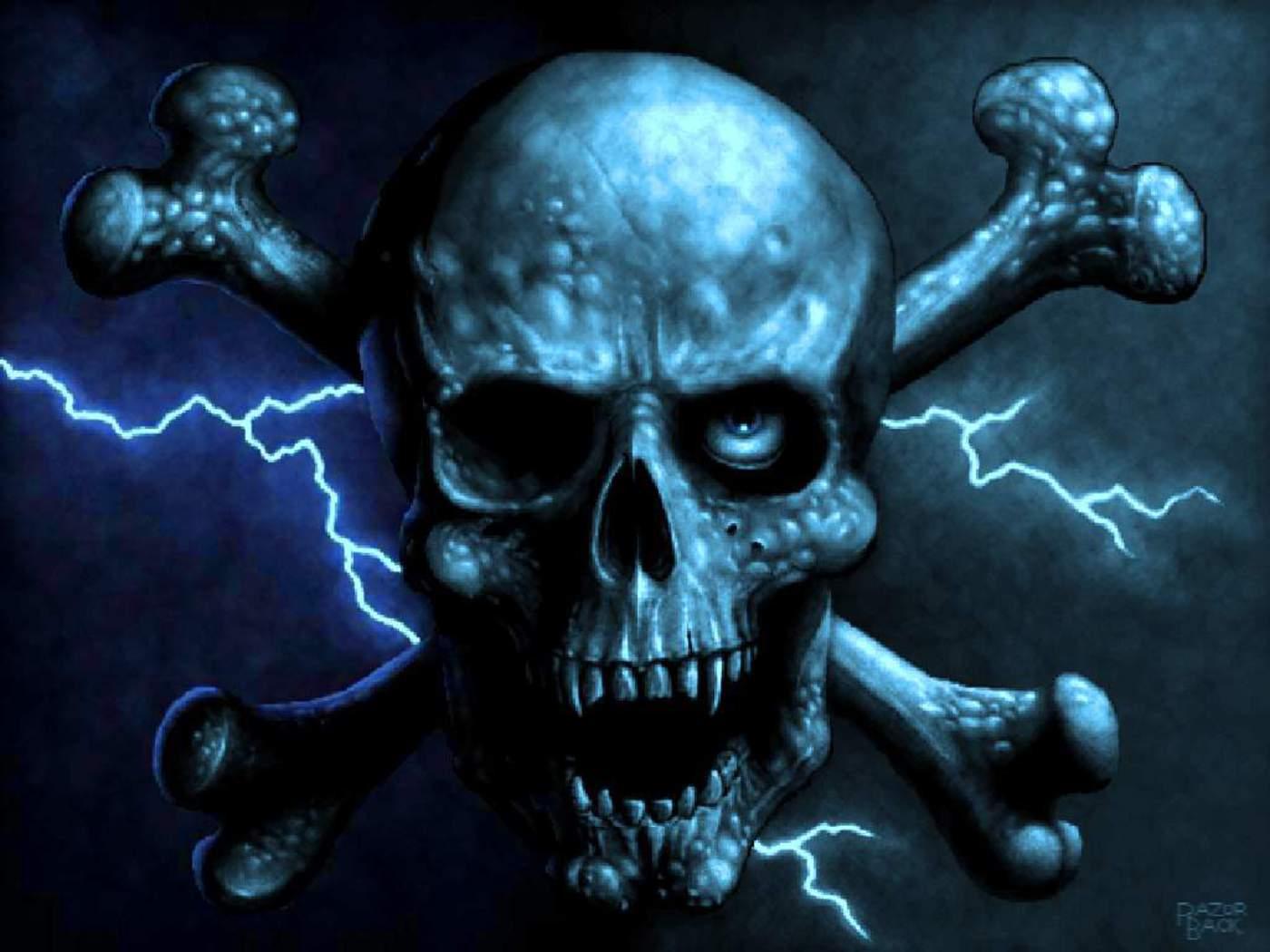 32 unholy digital Gothic art skulls HybridLava   Part 2 1400x1050