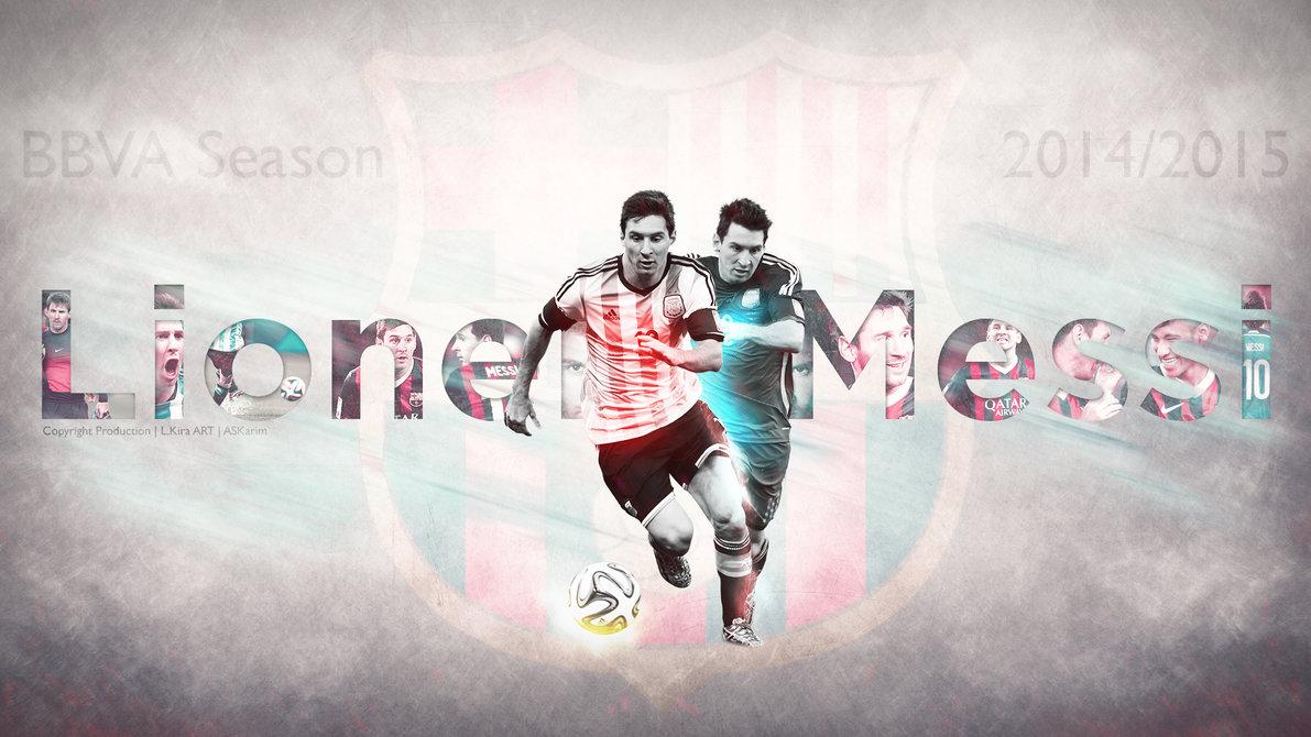 Lionel Messi   La Pulga 20142015 Wallpaper by eL Kira on 1191x670