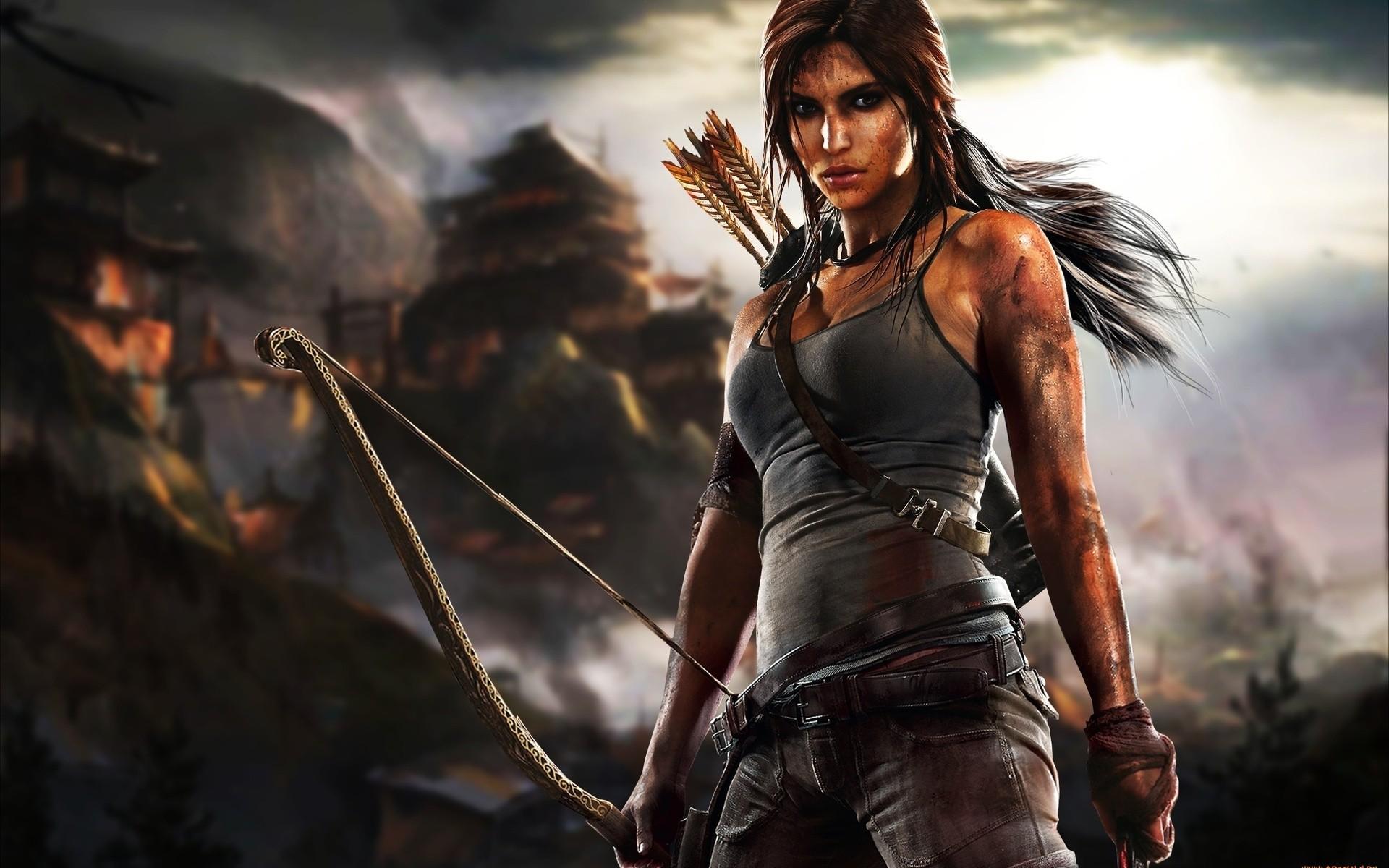 Free Download Lara Croft Tomb Raider Archery 61818 Hd Wallpaper