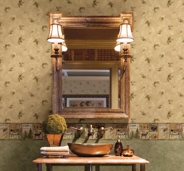 Echo Lake Lodge   Rustic   Wallpaper   boston   by Brewster Home 640x594