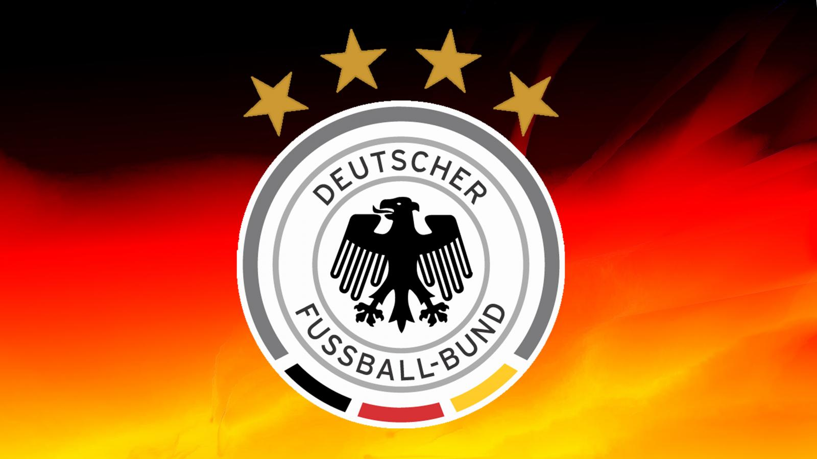 Germany Football Logo Wallpaper with 4 Stars and National 1600x900