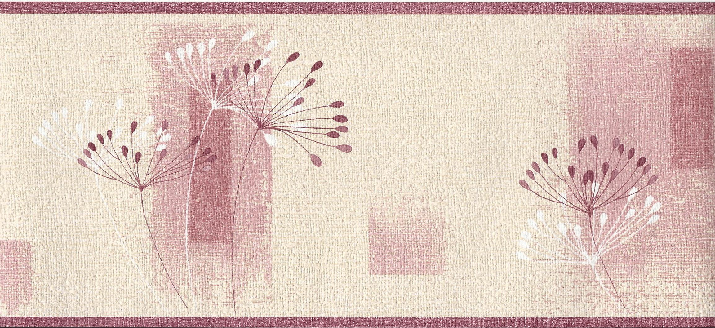 Dandelion Textured Cream Pink Border 97024 by EuroStudio 2306x1058
