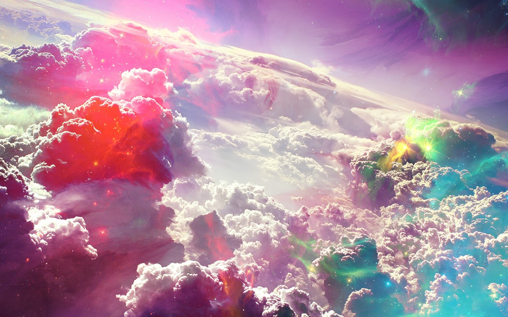 Colorful Fantasy Clouds Art HD Wallpaper 1920x1200