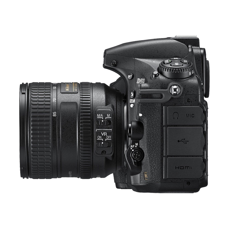 Nikon D810 Camera side view transparent image Png Images 800x800