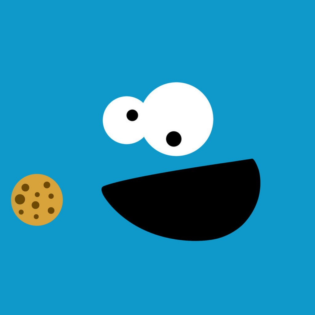 FREE Cookie Monster HD IPad Wallpaper Designs Ipadwallsdepot 81149 1024x1024