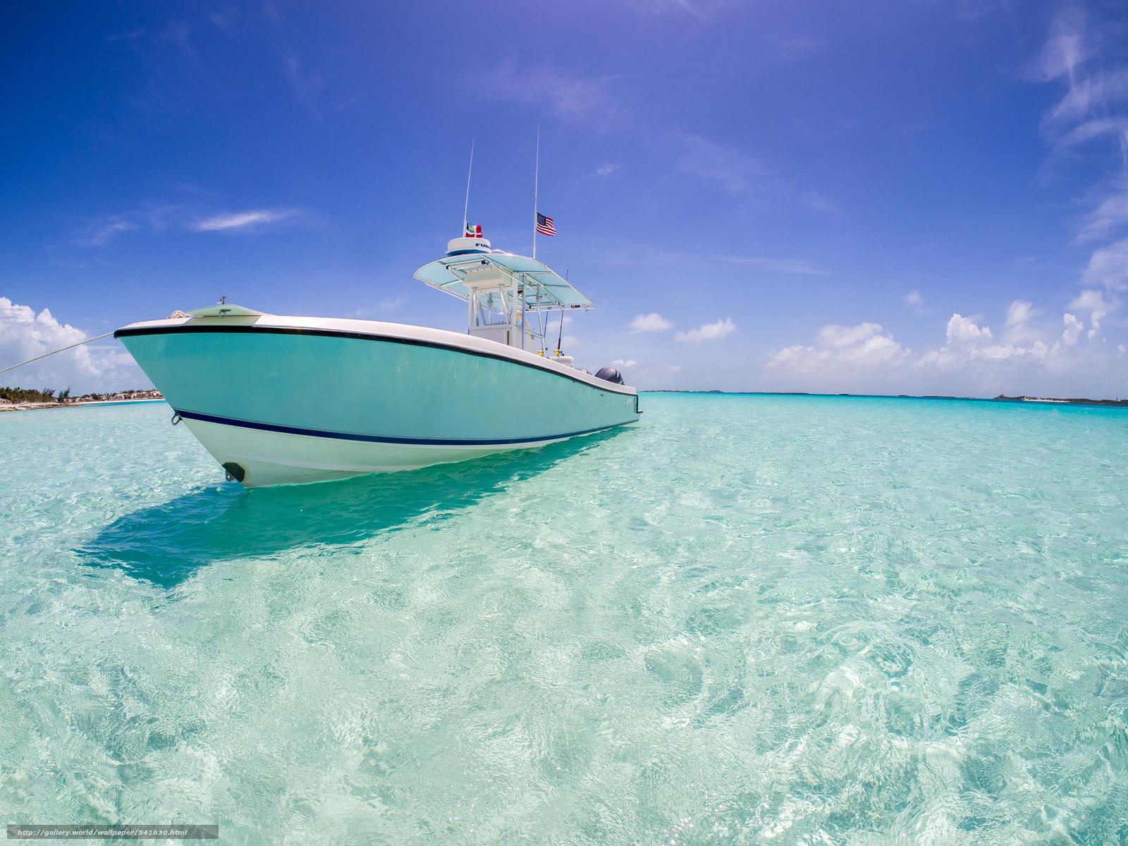 Download wallpaper yacht xhuma Islands Bahamas caribbean sea 1600x1200