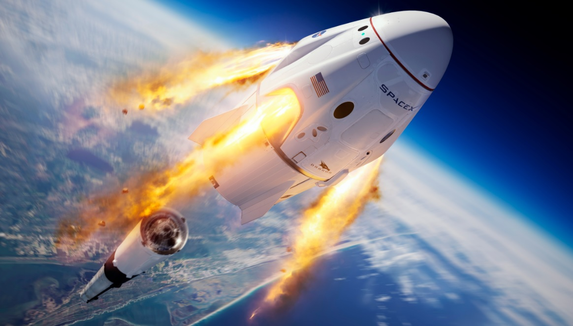 NASA astronauts go back to the future with capsule launch 1164x663