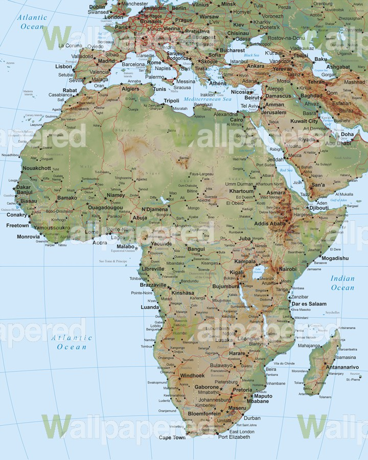 Home Map of Africa 720x900