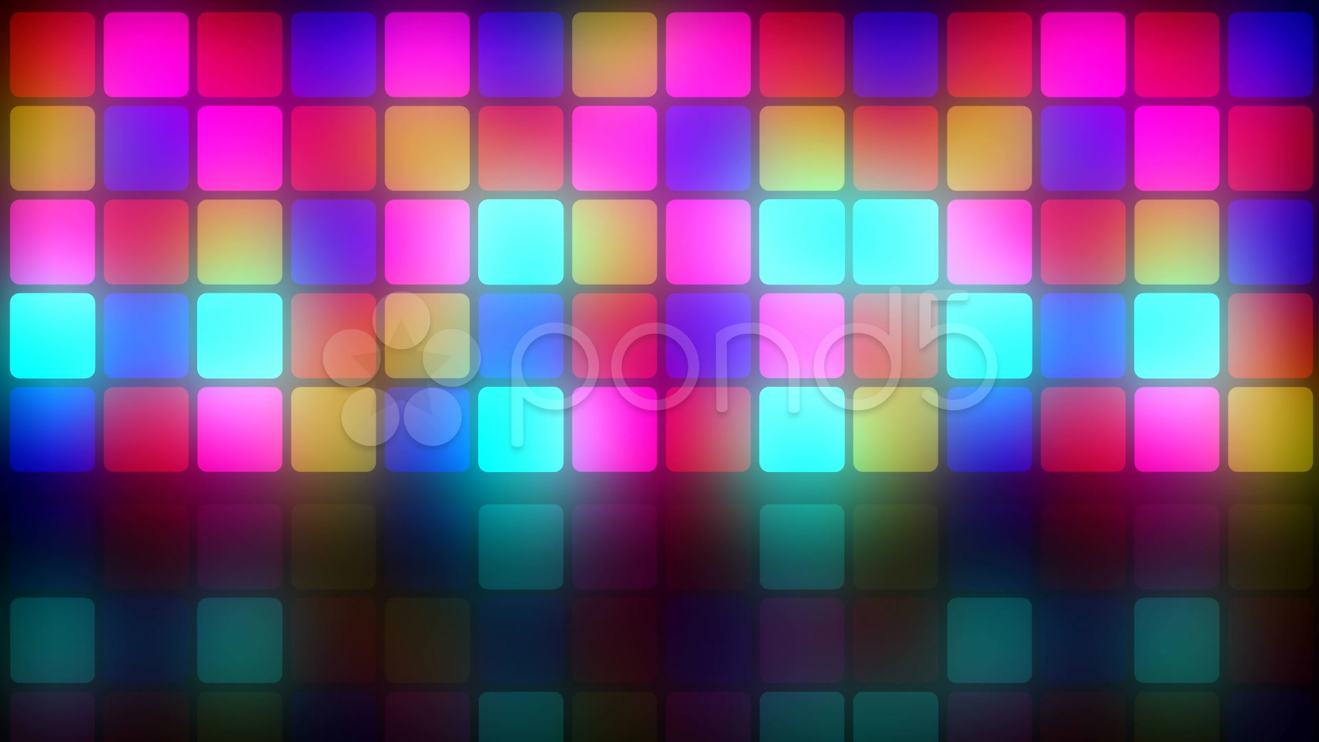 Colorful retro dancefloor backdrop Video Clip 010720292 1920x1080
