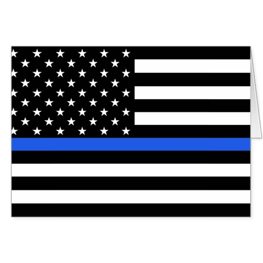 Blue Line Wallpaper: Thin Blue Line Flag Wallpaper