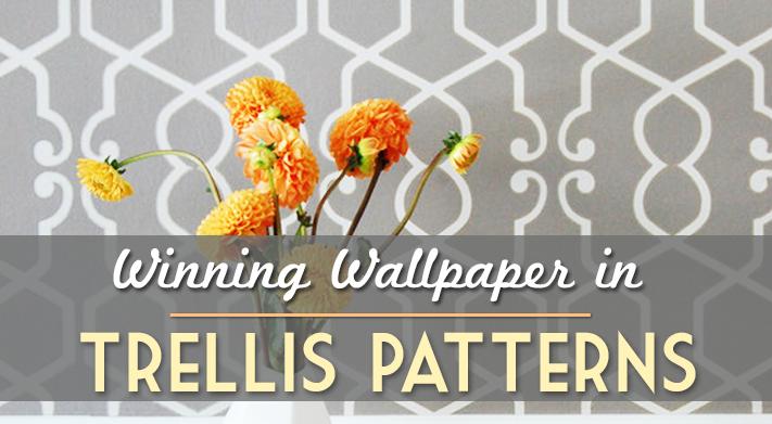 Trellis Wallpaper Geometric Pattern Home Design Interior Design 711x391