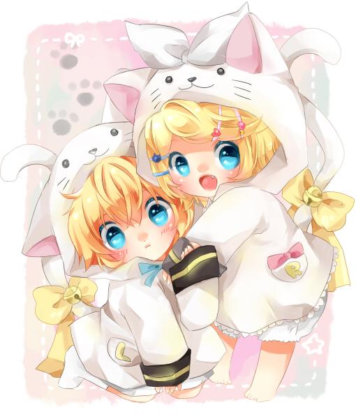 Rin and Len Wallpaper Chibi - WallpaperSafari