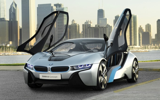 Bmw i8 Open Doors HD wallpaper   Car Wallpaper Hub 680x425