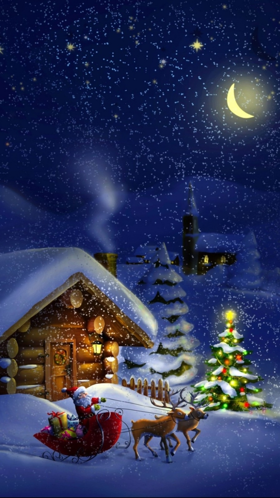 Christmas iPhone 7 Wallpaper 1080x1920