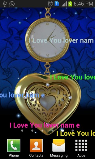 View Bigger My Love Name Live Wallpaper 3D For Android Screenshot 307x512