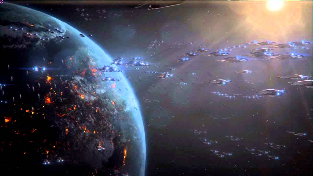 Mass Effect 3 Epic Space Battle Sword London Arrival 1280x720