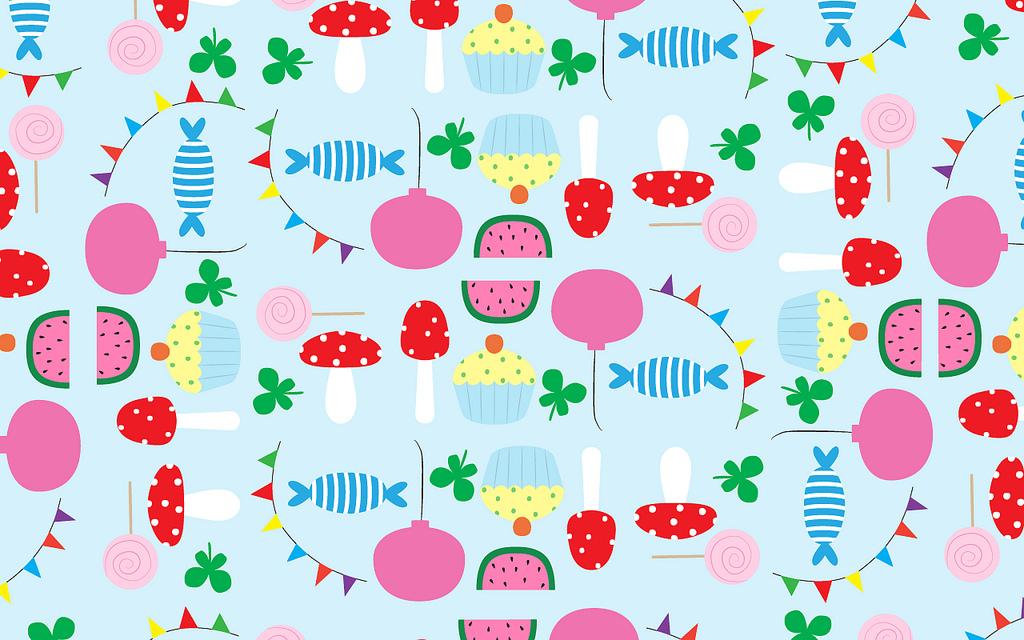 Kawaii Wallpapers By Swedish Designer Frukt Party