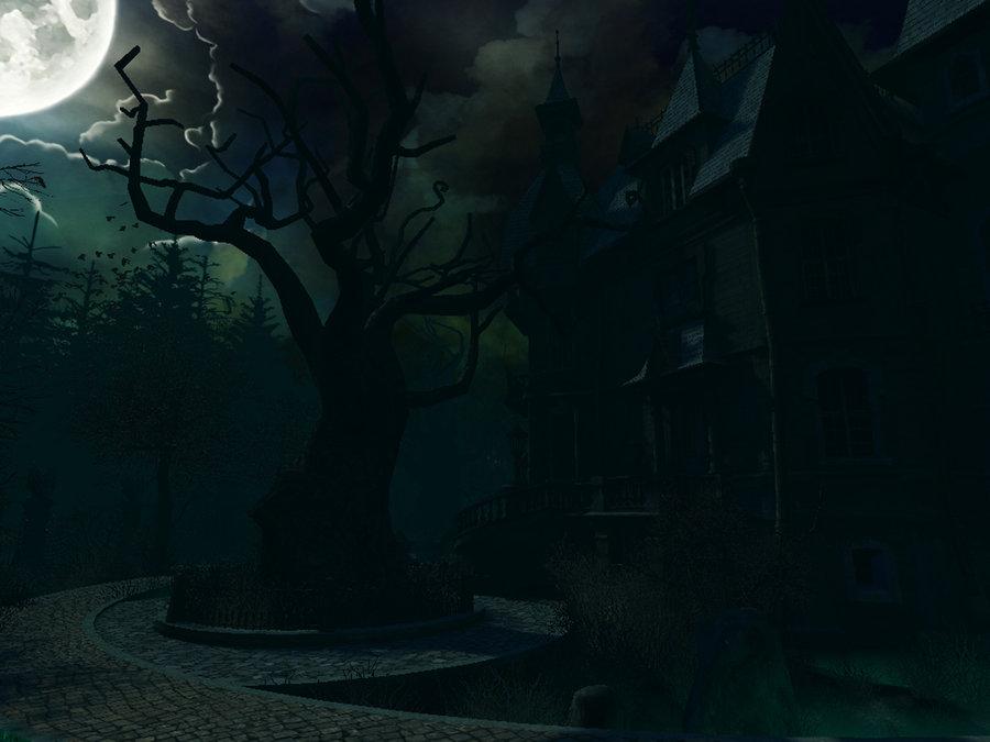 Haunted House background by moonchild ljilja 900x675