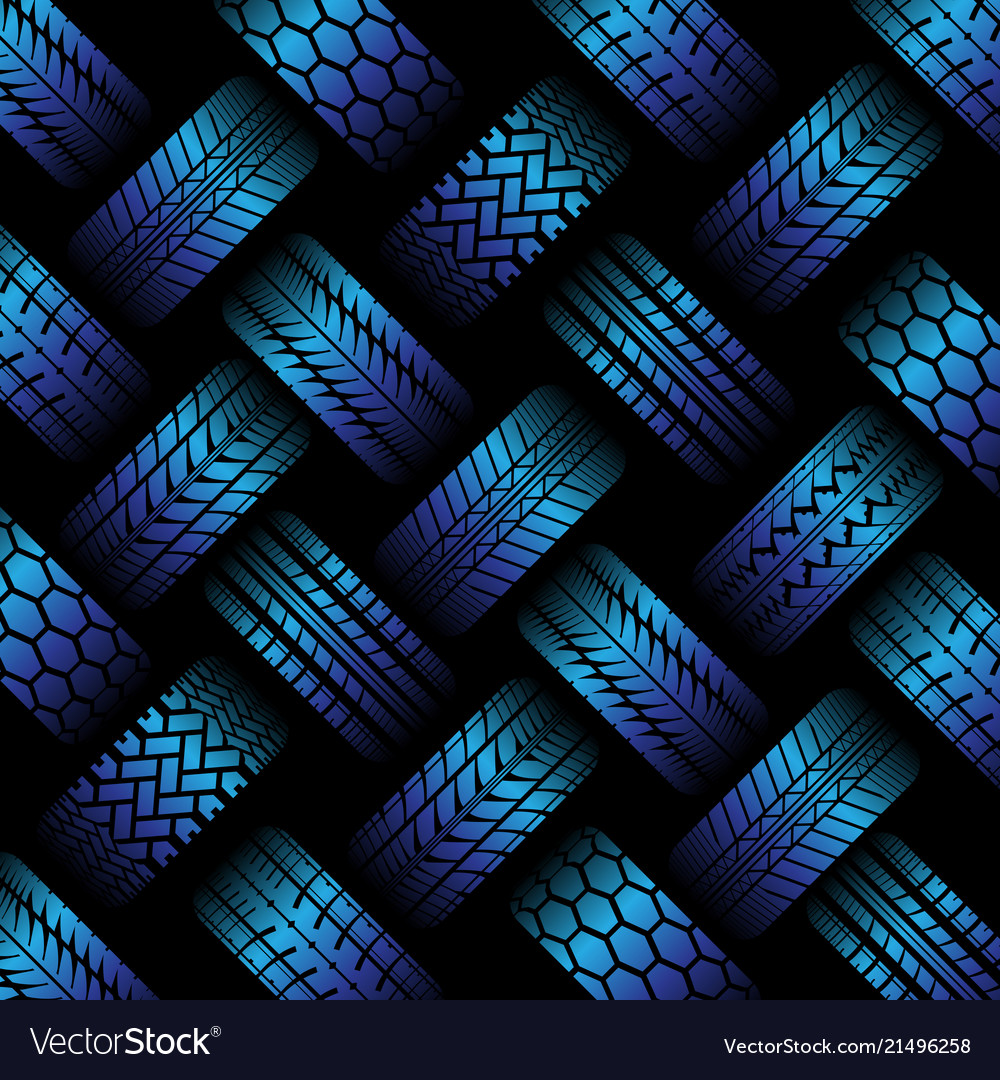 Cars blue tire tracks background Royalty Vector Image 1000x1080