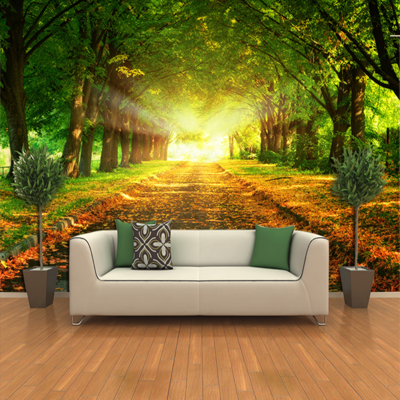 Wall express wallpaper wallpapersafari for Scenery wallpaper for living room