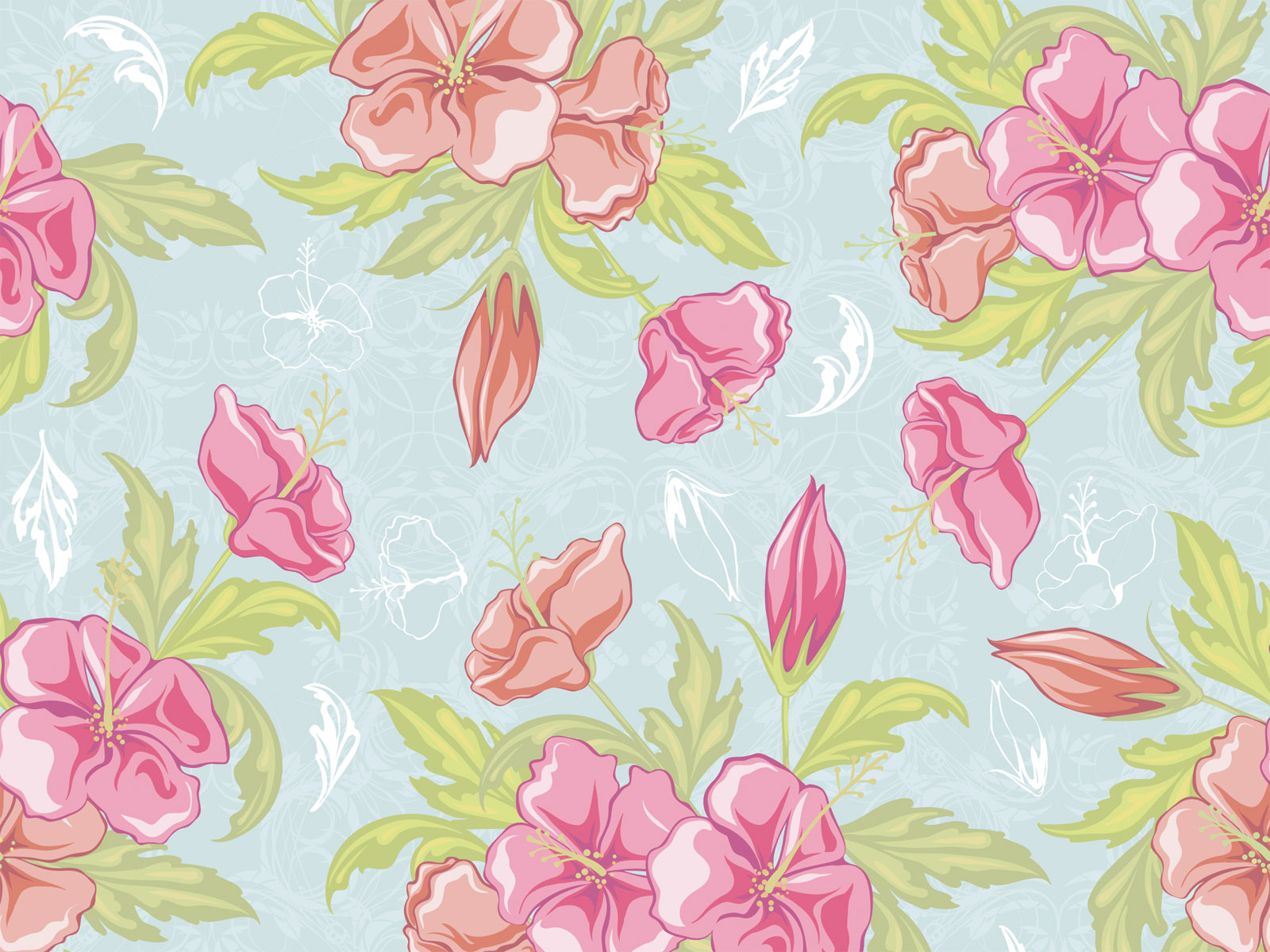 Free Download Download Classic Floral Vintage Design Wallpaper