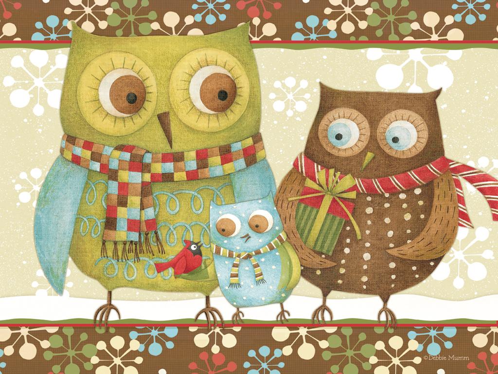 Free Pc Wallpaper Christmas Owl Wallpapersafari