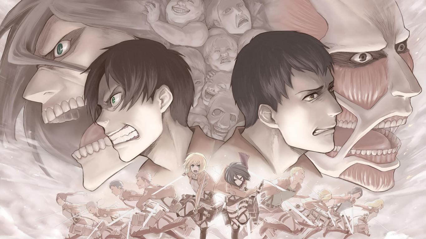 Attack on titan   100521   High Quality and Resolution Wallpapers 1366x768