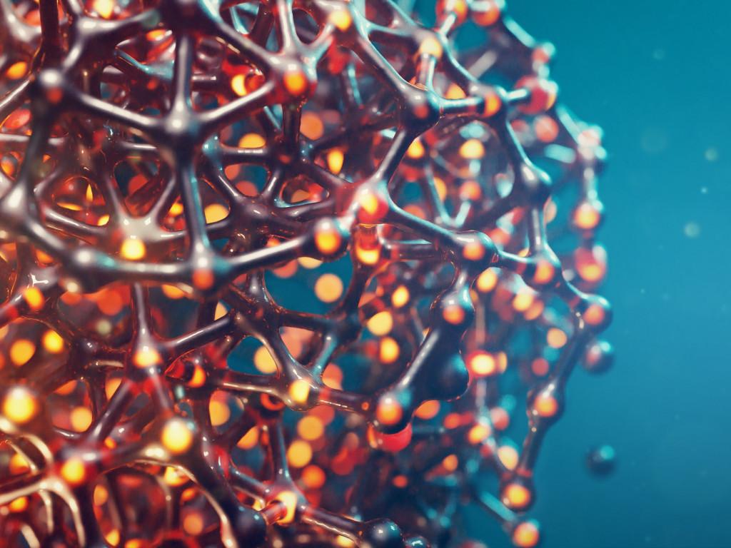 Download wallpaper 3D cellular structure 1024x768 1024x768