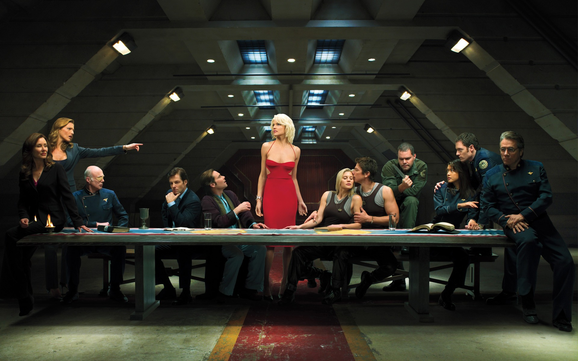 Battlestar Galactica Last Supper wallpaper 140163 1920x1200