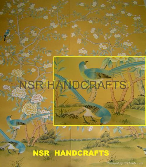 Hand painted wallpaper   NSR SC FC030   NSR China Manufacturer 500x573
