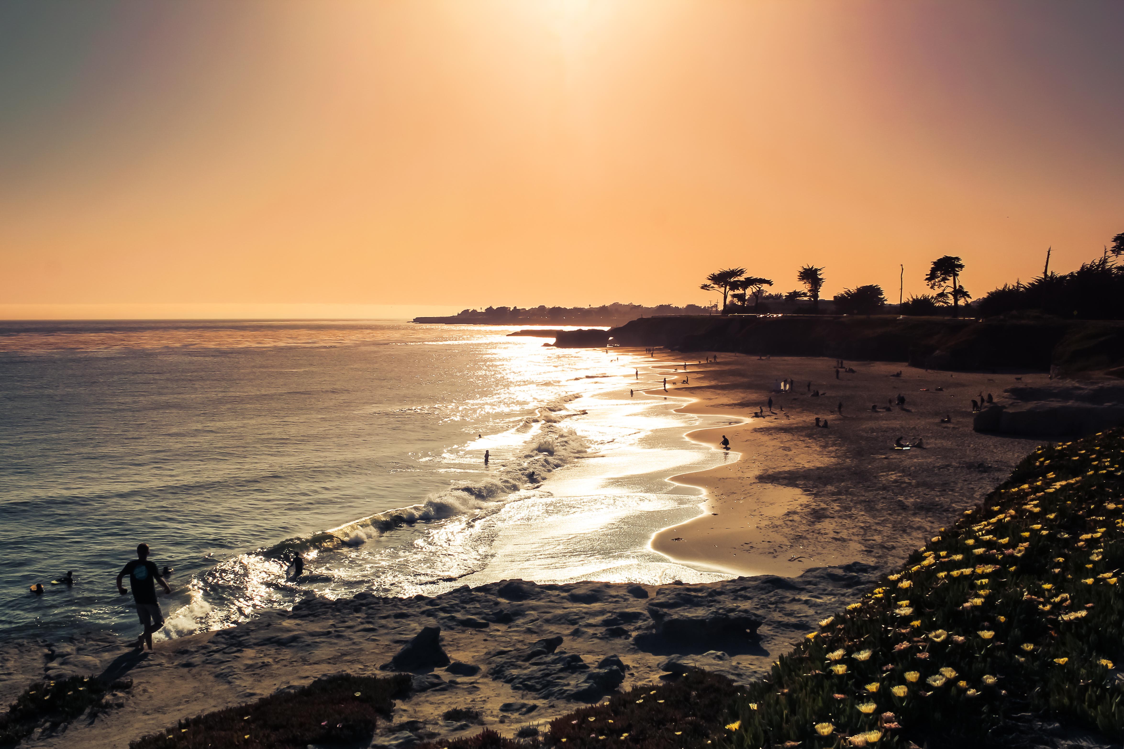 HD Wallpaper Santa Cruz Lighthouse Field State Beach 4698x3132
