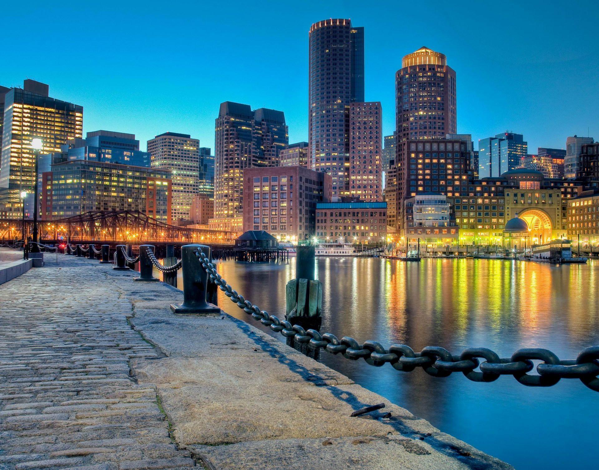 Hd wallpaper travel - Boston At Night Travel World Wallpapers Boston At Night