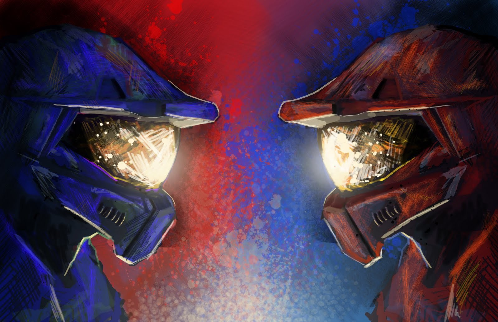 Red vs blue backgrounds   SF Wallpaper 1600x1035