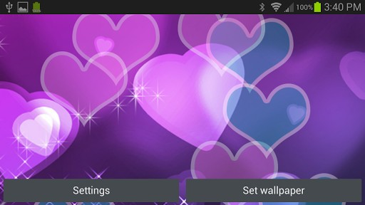 Hearts Live Wallpaper App for Android 512x288